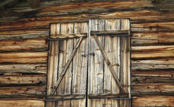 Double doors to the barn